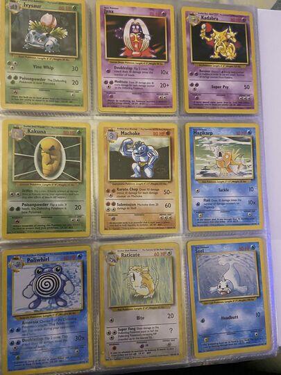 Pokemon Base Set Collection Charmander, Bulbasaur, Squirtle, Charmeleon, Ivysaur, Wartortle, Pikachu Item Image