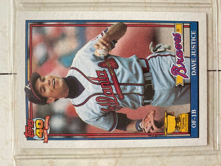 dave justice 1991 topps Item Image