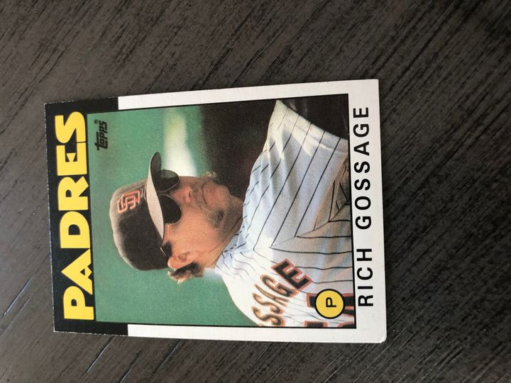 1986 TOPPS RICH GOSSAGE 530 Item Image